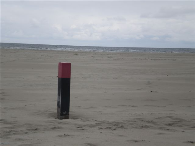 Terschelling strand paal